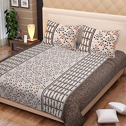 Spangle Cotton Lining And Checks King Bedsheet With 40 Pillow Covers Impressive Mattress And Pillow Covers