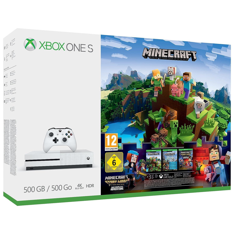 Xbox One S 500GB Console - Minecraft Complete Adventure