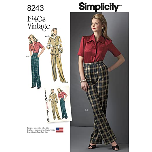 1940s Sewing Patterns – Dresses, Overalls, Lingerie etc 1940S Sportswear PatternSize: H5 (6-8-10-12-14) $11.95 AT vintagedancer.com