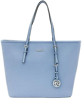 04e99738fd81c Tom   Eva Shopper Damen Tasche Hellblau Schultertasche  Amazon.de ...