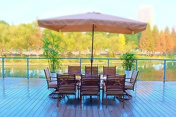 10pc Hand Painted Cast Aluminum Patio Furniture Set   Seats 8 (free  Umbrellla)