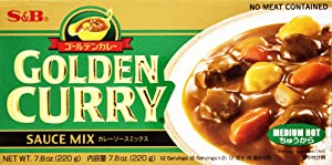 S&B Golden Curry Sauce Mix, Medium Hot, 7.8 Ounce