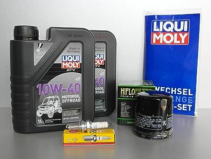 Mantenimiento y Service Set para quad Yamaha YFM 660 Grizzly con filtro de aceite Bujía: Amazon.es: Coche y moto