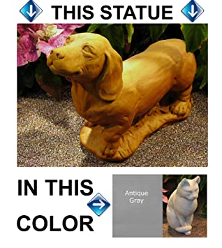 Amazoncom DOG Dachshund 155 GRAY CONCRETE Cast Cement Statue