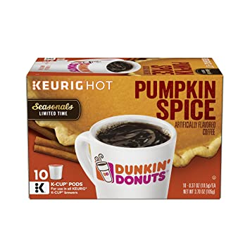 31d9a2ab13eb4 Dunkin' Donuts Pumpkin Spice Flavored Coffee, K-Cup Pods, Seasonal Limited  Time, For Keurig...