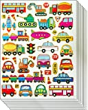 Jazzstick Cute & Fun Cars Bus Train Taxi Truck Stickers for Kids 10 sheets (VST05A03)