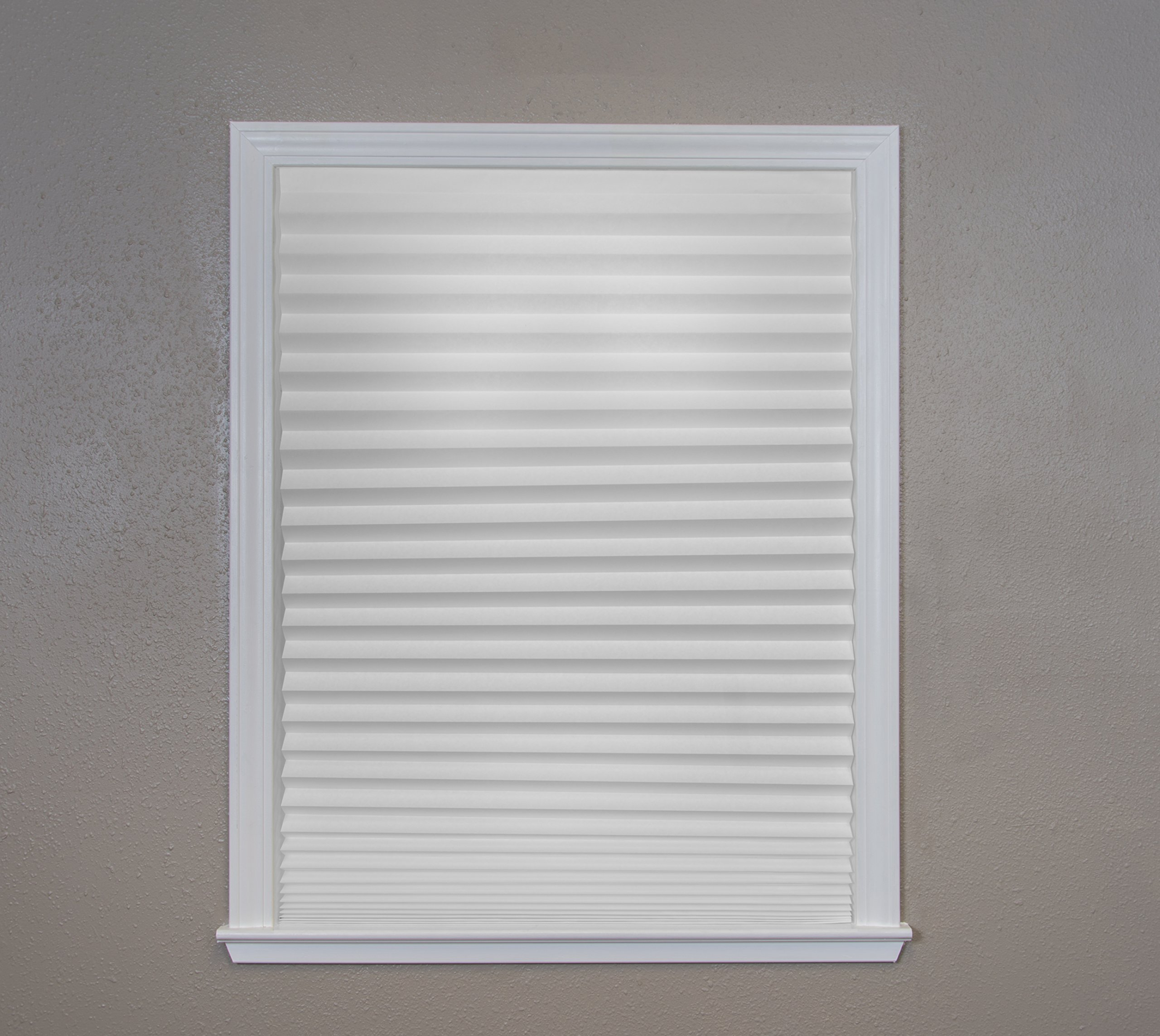 """Original Light Filtering Pleated Paper Shade White, 36"""" x 72"""", 6-Pack by Redi Shade (Image #9)"""