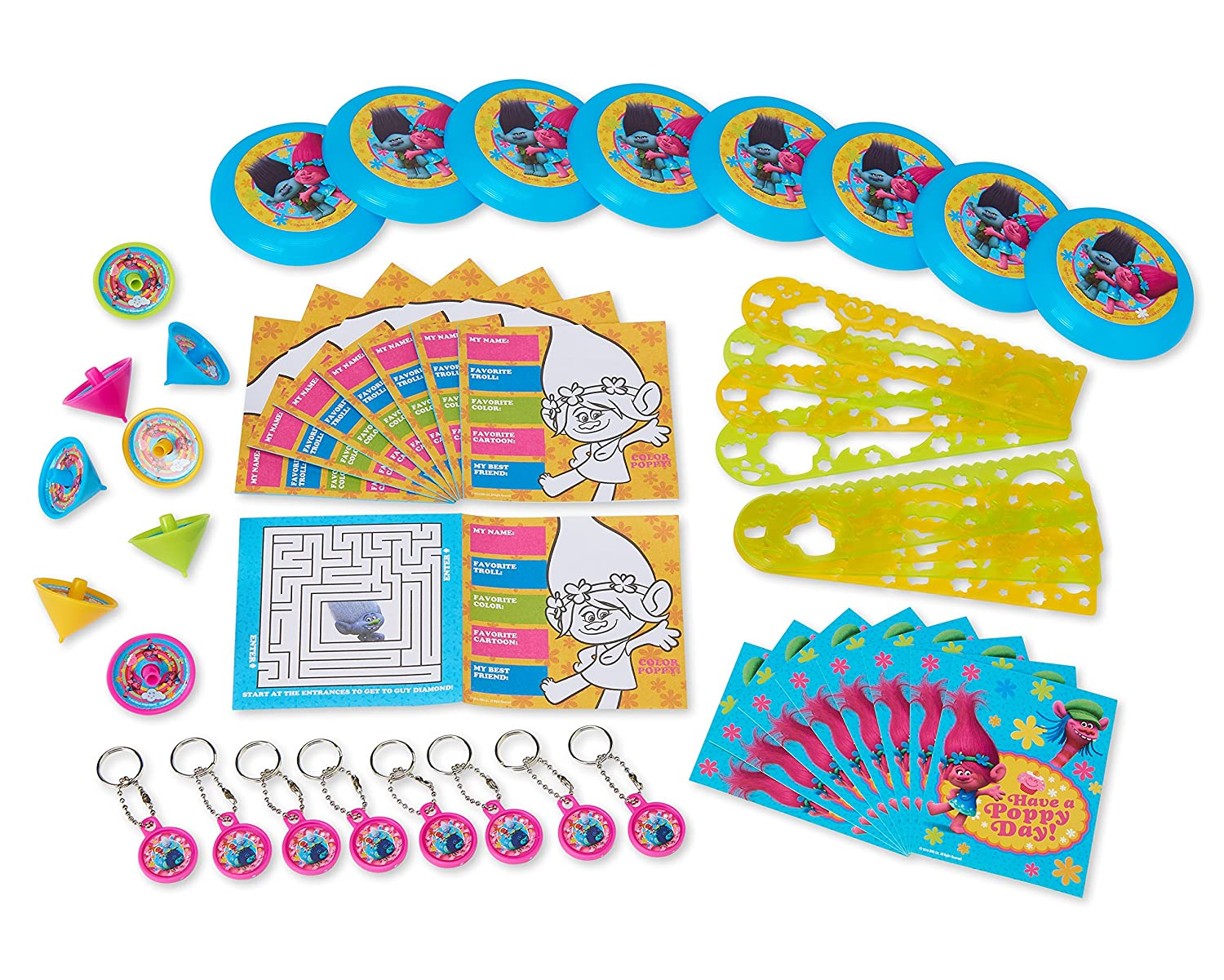 Amazon American Greetings Trolls Party Favor Value Pack Toys