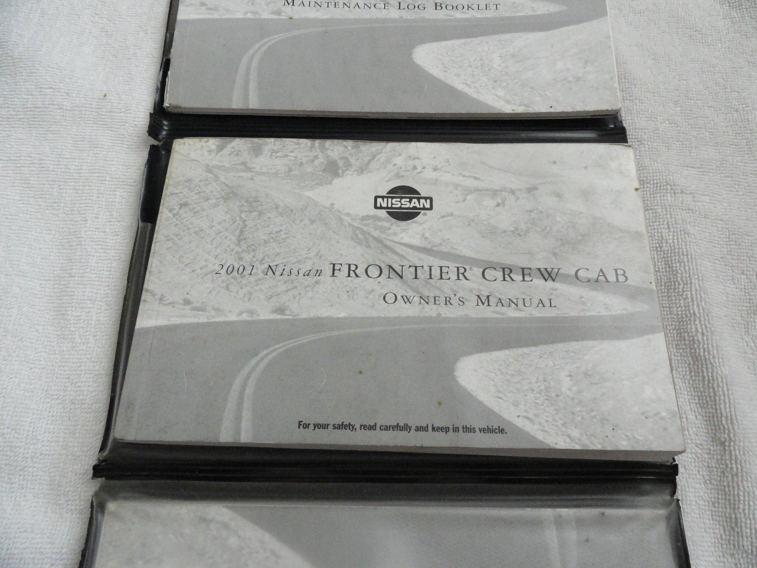 2001 nissan frontier pickup repair shop manual set original.