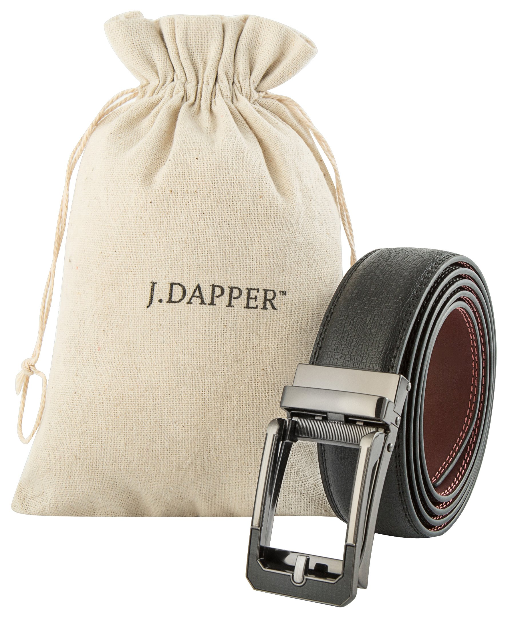 Men's Black Ratchet Belt - Black and Silver Open Style - by J. Dapper by J. Dapper (Image #2)