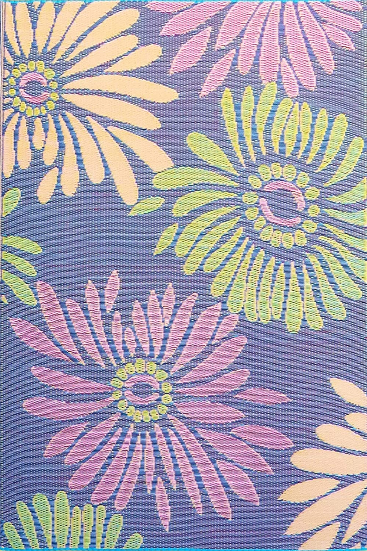 Mad Mats Daisy Indoor/Outdoor Floor Mat, 4 by 6-Feet, Violet