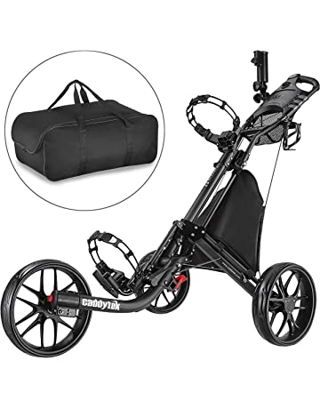CADDYTEK ez-fold 3 Rueda de golf empuje cart-dark gris con bolsa de