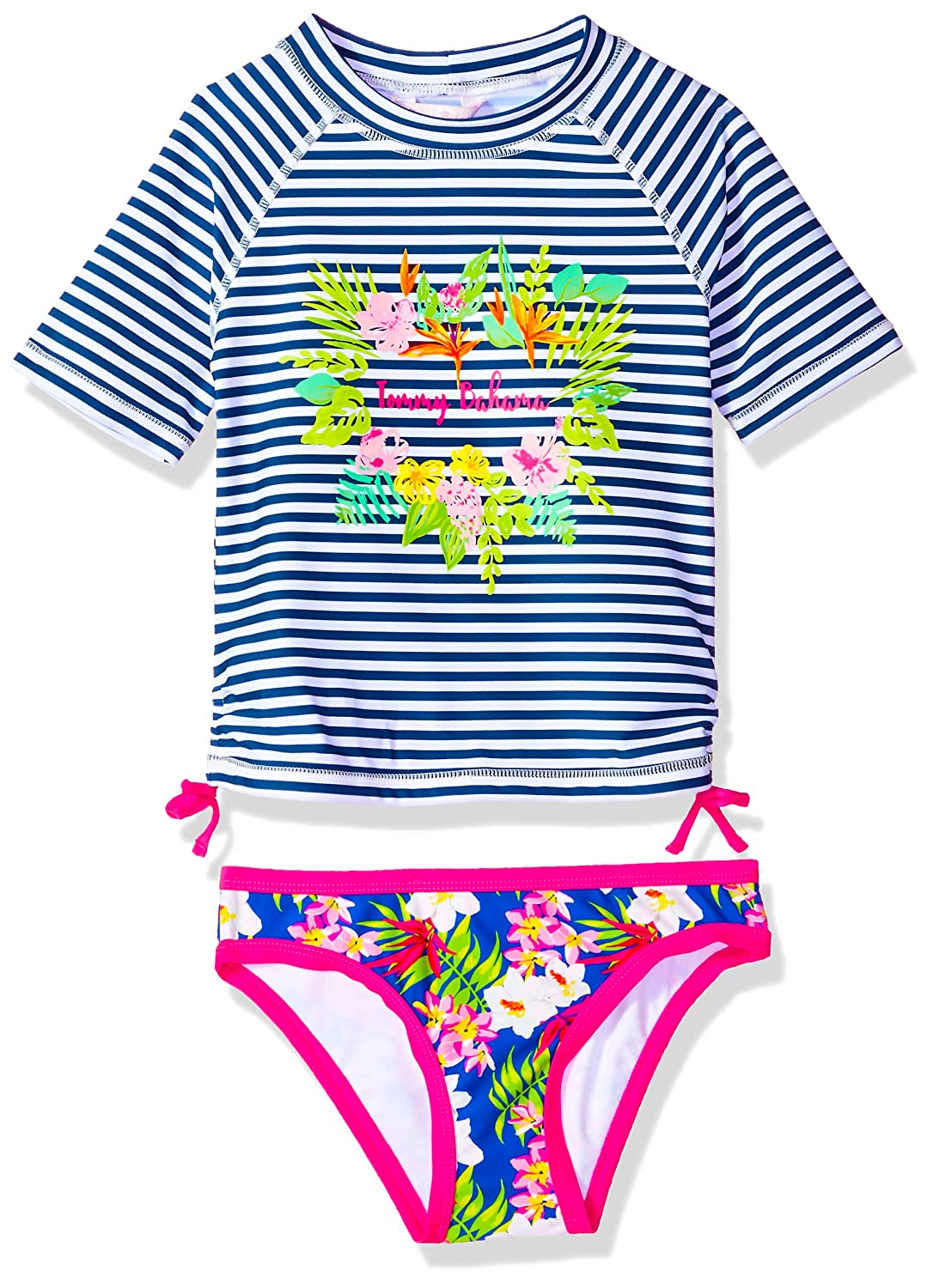 b7af748053457 Amazon.com: Tommy Bahama Girls' 2-Piece Rashguard and Swim Bottoms Set:  Clothing