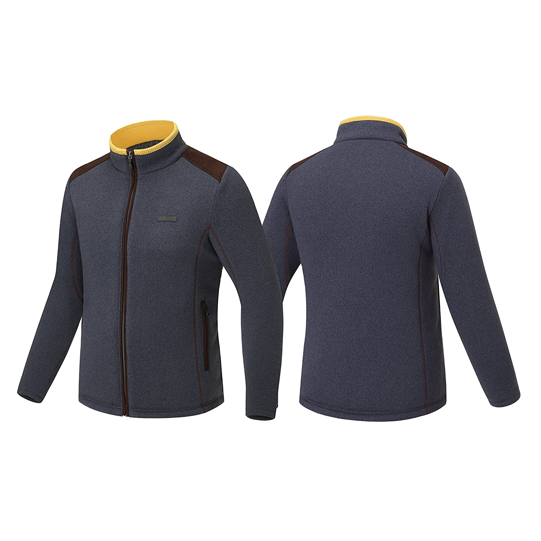 Fuerza Mens Premium Knit Cation Warmth Fleece Suede Jacket
