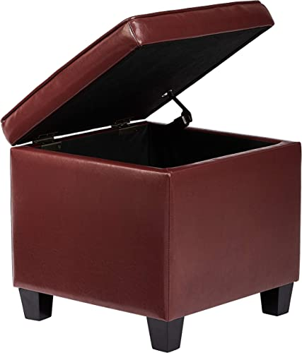 First Hill Dupont Square Wood Storage Ottoman