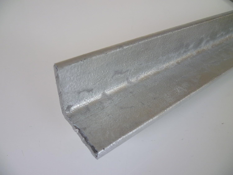 500 mm +//- 5 mm B/&T Metall Stahl Winkel VERZINKT 50x50x5 mm in L/ängen /à ca 1.0038 ST37 S235 0,5 mtr.