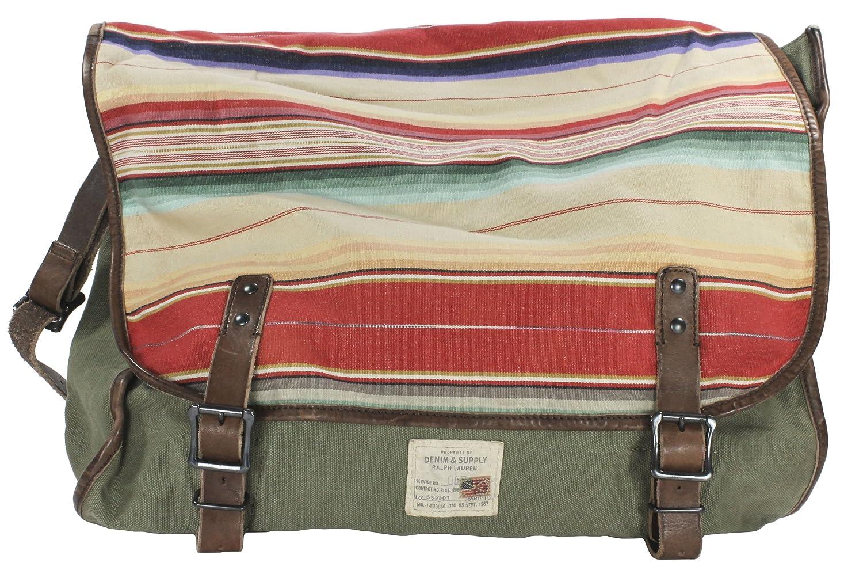 4ee061cacc Ralph Lauren Denim   Supply Men s Serape-Flap Canvas Messenger Bag (Olive  Serape)  Amazon.co.uk  Clothing