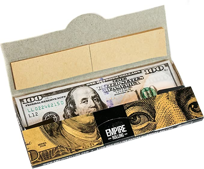 24PC DISPLAY Empire $100 Bill Rolling Papers