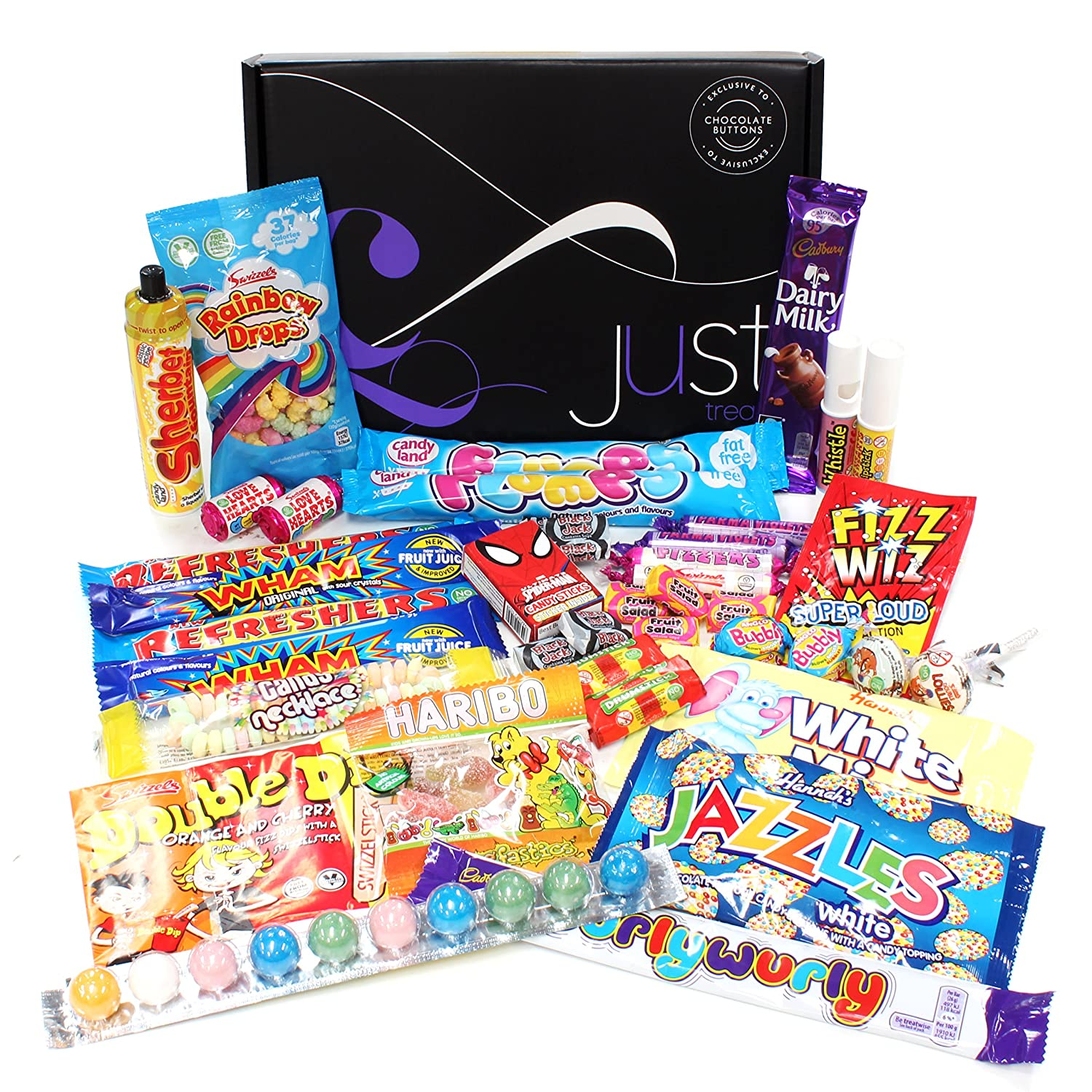 Hampers and gourmet gifts amazon retro sweets gift box just treats cosmic gift box negle