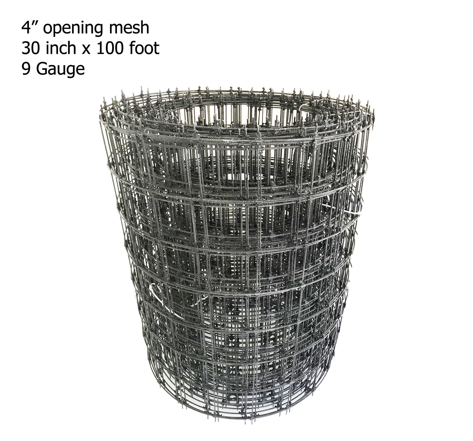 Galen Panamerica 9 Gauge Fiberglass Wire Mesh 30'' x 100' - 4'' Square