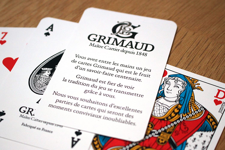 Grimaud Origine Card Game 2 Sets of 54 Cards