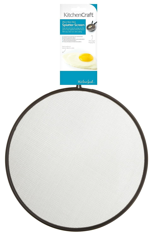 "KitchenCraft Non-Stick Frying Pan Splatter Screen / Splash Guard, 29 cm (11.5"") 29 cm (11.5"