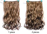 20 Inches One Piece Wavy Curly Half Head Clip in