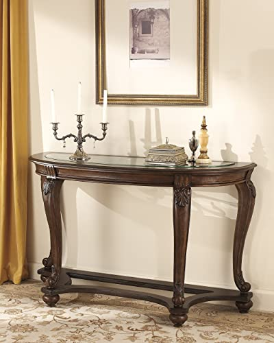 FurnitureMaxx Norcastle Dark Brown Wood Sofa Table