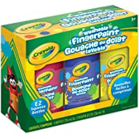 Crayola 3 Ct Fingerpaints,  School, Craft, Painting and Art Supplies, Kids, Ages 3,4, 5, 6 and Up, Holiday Toys, Stocking Stuffers, Arts and Crafts, Easter Basket Stuffers, Easter Gifting