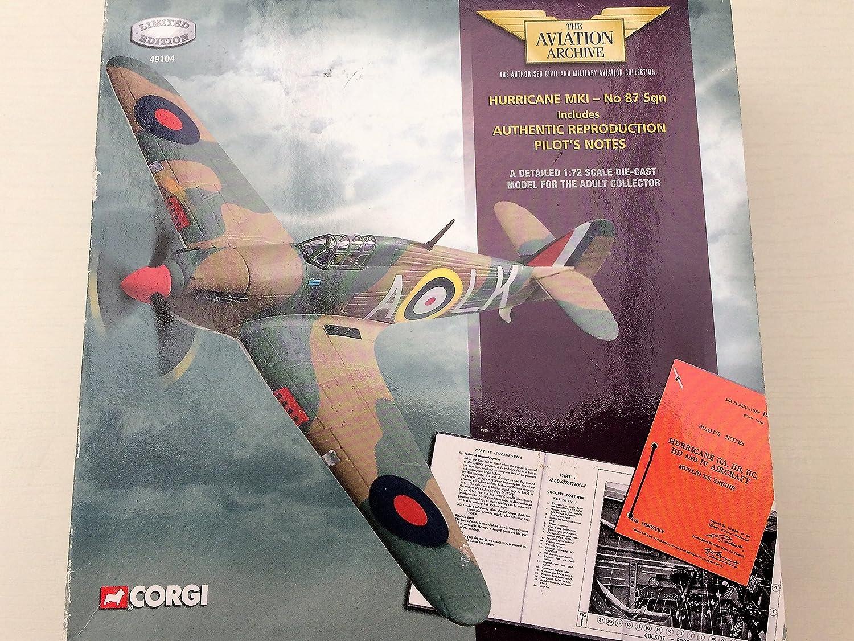 Corgi 1/72 Scale diecast 49104 Hurricane Mk1 87 Sqn