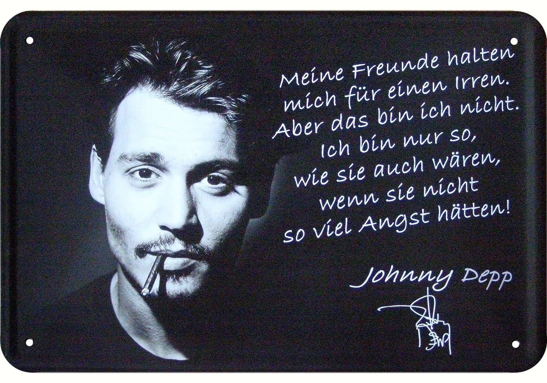 Amazon De Johnny Depp Zitat Deko Blechschild