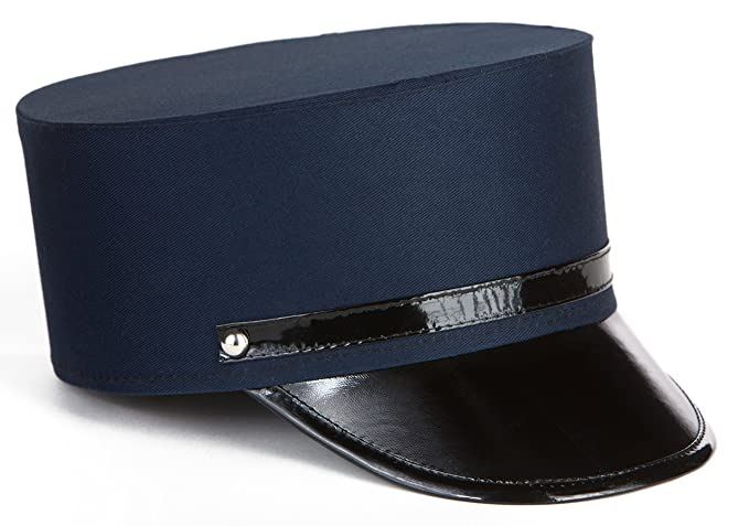 Men's Vintage Style Hats Cotton Navy Blue Adult Train Engineer Hat (Unisex) Conductor Hat $10.69 AT vintagedancer.com