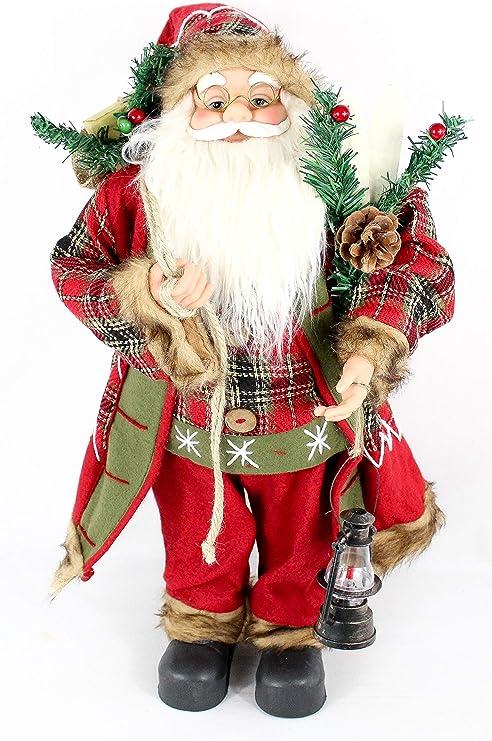 Babbo Natale 60 Cm.Pupazzo Di Babbo Natale Statuetta Decorativa Di Babbo Natale Ca 60 Cm 4 Diversi Modelli A Scelta Joseph Amazon It Casa E Cucina