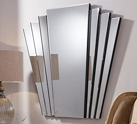 Barcelona Trading Gatsby Extra Large Vintage Art Deco Style Retro Overmantle Wall Mirror 39 X 39 Amazon Co Uk Kitchen Home