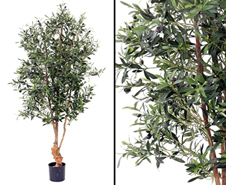 Artificial Fruit Olive Tree With Uv Protected And Not Easily