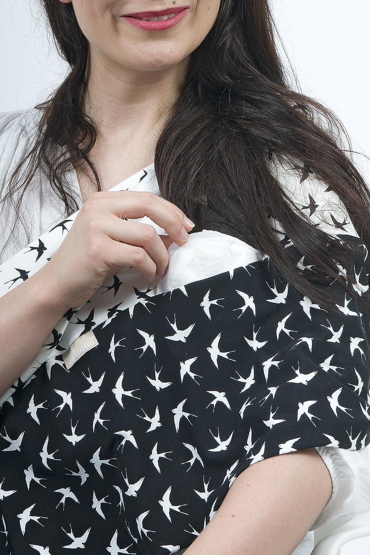 """L/'/écharpe-tube d/'allaitement /""""Swallow/"""" avec petites poches pour coussinets dallaitement L-XL"""