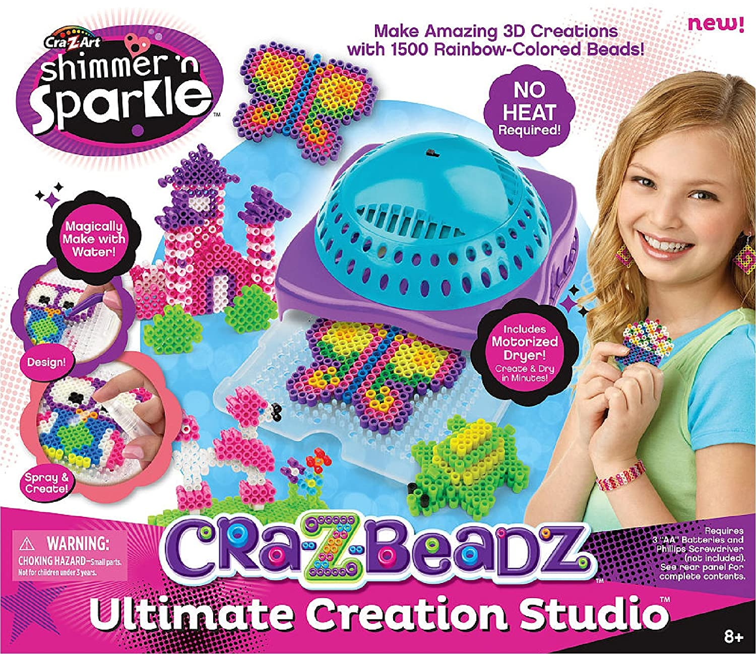Amazon cra z art shimmer n sparkle cra z beads mania amazon cra z art shimmer n sparkle cra z beads mania ultimate designer creation studio toys games prinsesfo Image collections