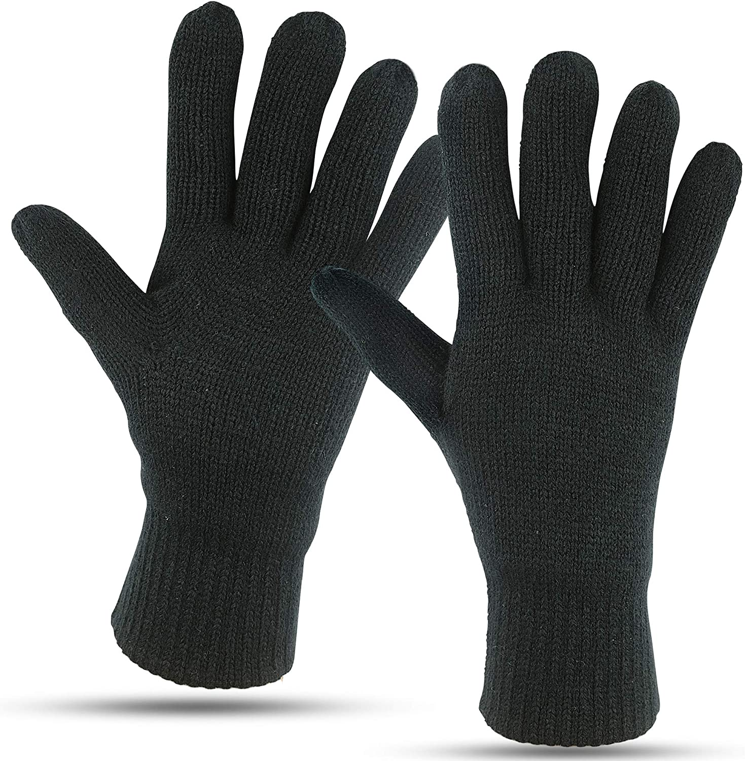 Winter Gloves For Men: Mens Cold Weather Snow Glove: Men's Knit Thinsulate  Thermal Insulation Black at Amazon Men's Clothing store