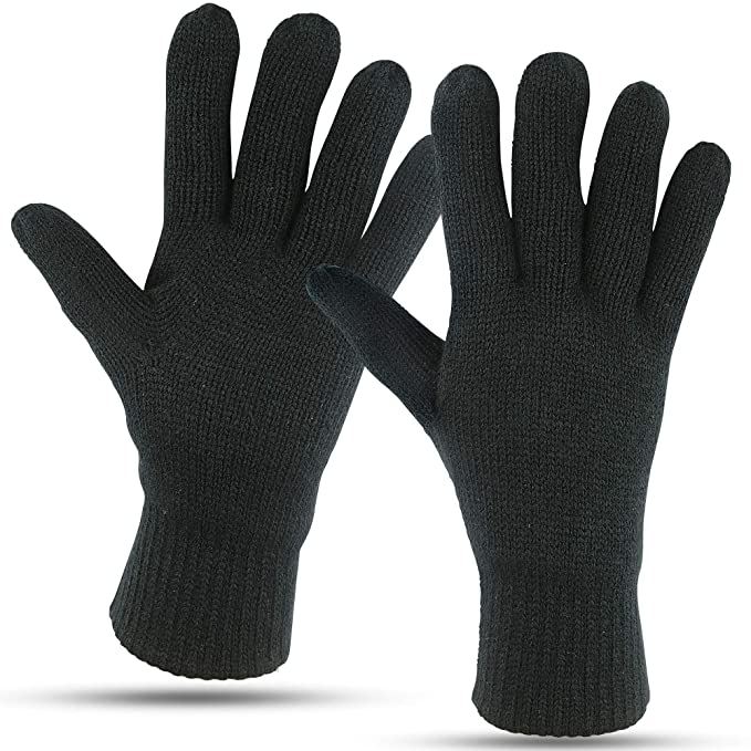 b5e1749b77050 Winter Gloves For Men: Mens Cold Weather Snow Glove: Men's Knit Thinsulate  Thermal Insulation