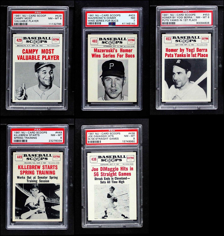 1961 Nu Card Scoops Complete Set (Baseball Set) Dean's Cards 7.5 - NM+