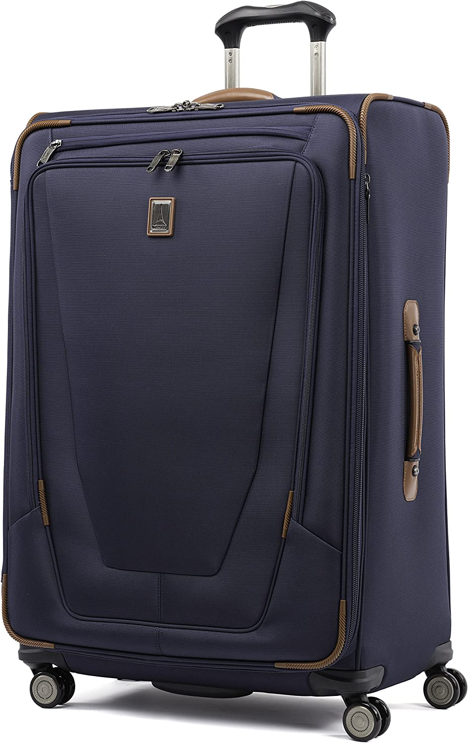Travelpro Crew 11-Softside Expandable Luggage with Spinner Wheels, Patriot Blue, Checked-Large 29-Inch