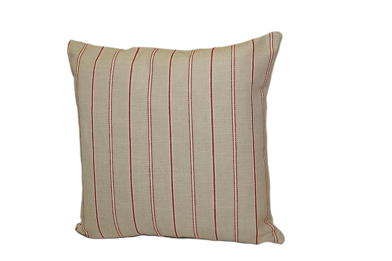 Red Rennie /& Rose Bernard Stripe Throw Pillow 24-Inch
