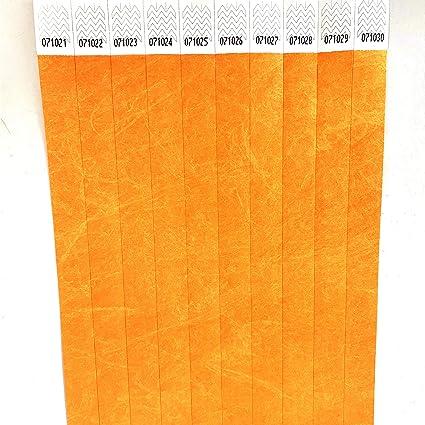 37a2ee9e069b Juego de pulseras papel Tyvek 19 mm para eventos