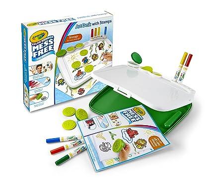 Amazon Com Crayola Color Wonder Mess Free Art Desk With Stamps Kid