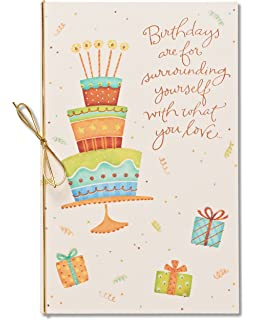 Amazon american greetings moments birthday card with foil american greetings happiness always birthday card with glitter m4hsunfo