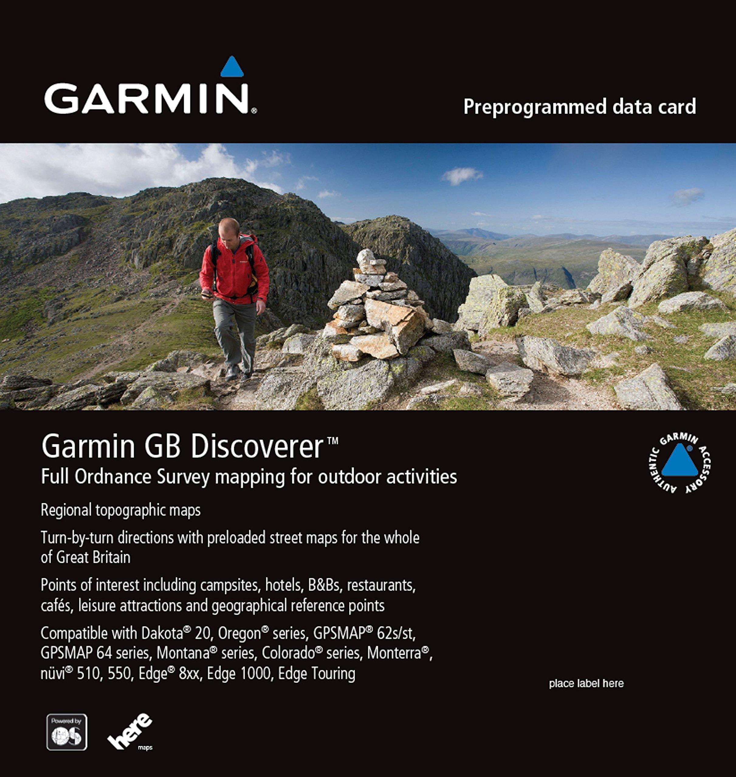 Garmin gb discoverer 2016 loch lomondtrossachs topographical map microsd card