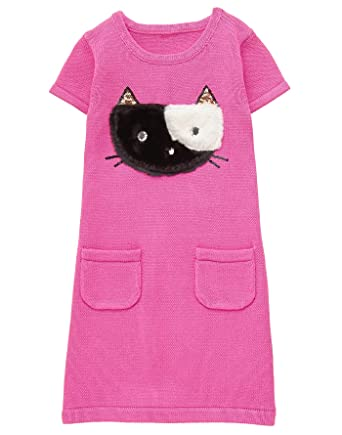 6169f7be5d Amazon.com  Gymboree Girls  Little Cat Face Sweater Dress  Clothing