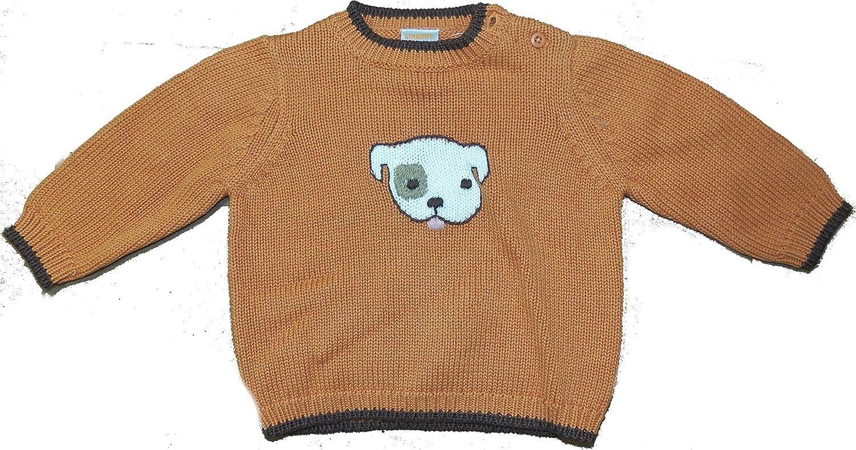 Gymboree Infant Baby Boy Puppy Dog Sweater Orange Brown Thanksgiving Colors