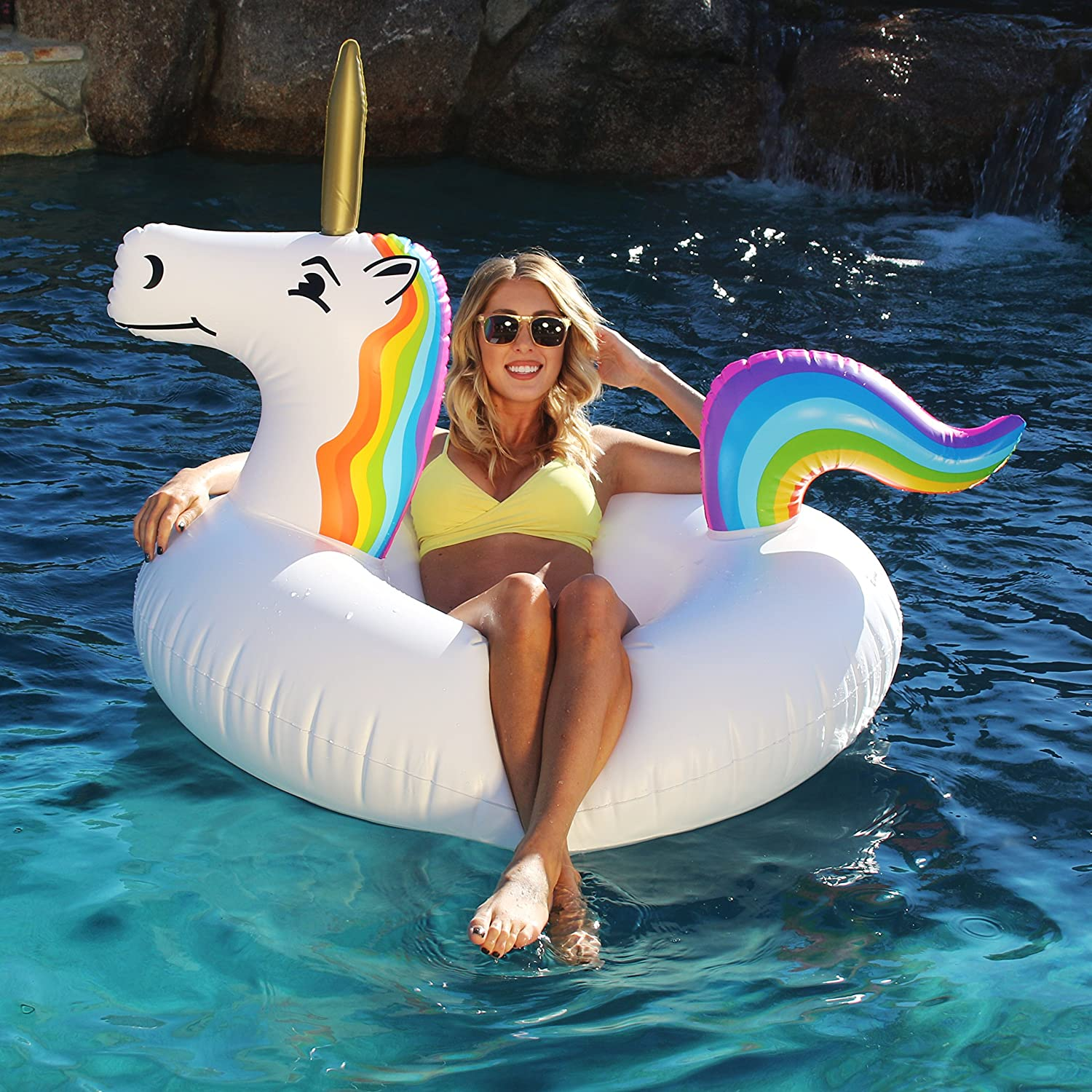 Go Floats Unicorn Party Inflatable Tube Float