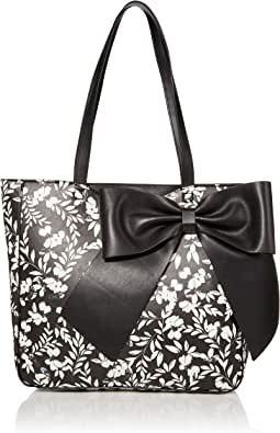 Karl Lagerfeld Paris CANELLE FARA PU PRINTED BOW TOTE